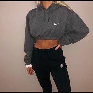 Custom nike crop hoodie scrunched bottom